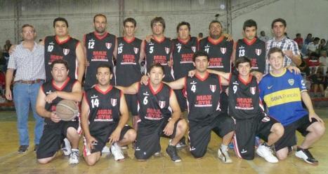 LOS MEJORES. El plantel de Atlético Alberdi se impuso en los tres primeros encuentros y ganó la serie contra CEF 24. foto asbt