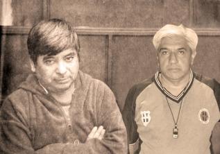 ÁRBITROS. Allende (izq) y Cisneros.