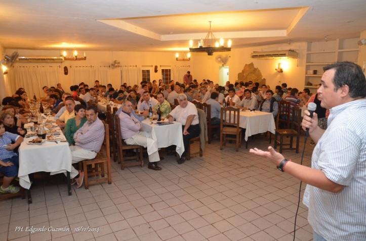 CIERRE DE TEMPORADA. El doctor Rubén Urueña hizo uso de la palabra en la cena federacionista.