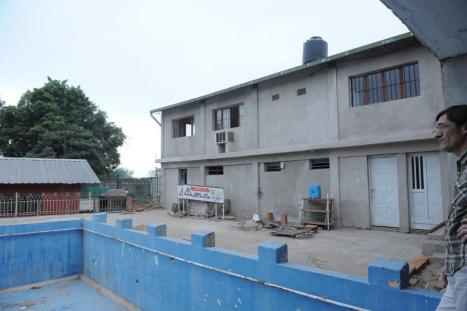 EN OBRAS. El edificio del albergue esta en su etapa final de construcción