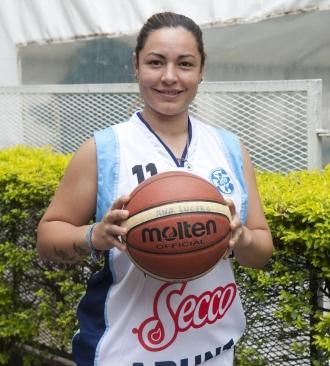 CAPITANA. Con cinco puntos, Ana Lucero fue la goleadora de Tucumán. Foto de Florencia Zurita