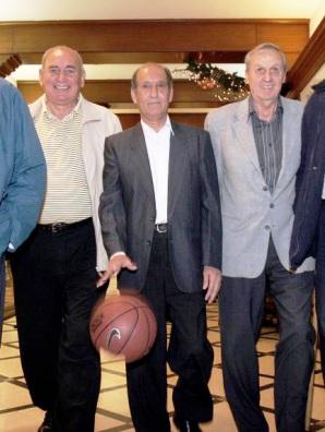 Foto del año 2005. Urueña, Del Corro y Carol en una visita al diario La Gaceta