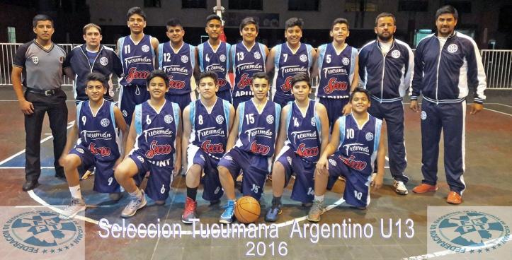 El equipo tucumano U13 que va al Campeonato Argentino.